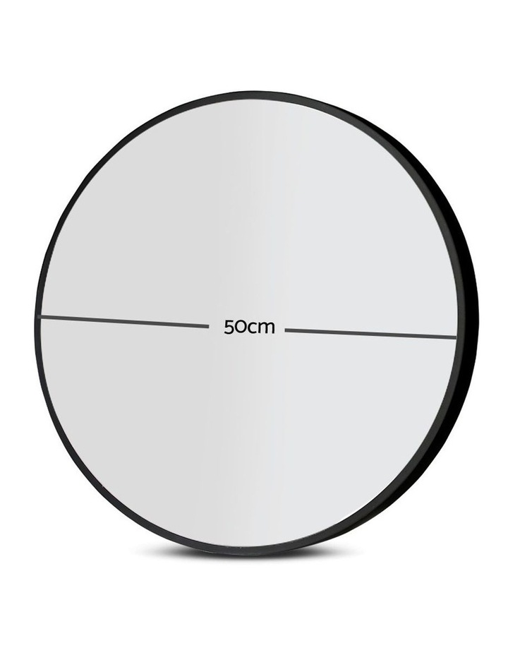Embellir Round Wall Mirror 50cm Makeup Mirror Frameless Bathroom Vanity Black Decor image 2