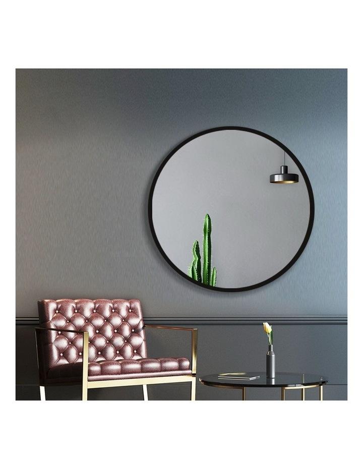 Embellir Round Wall Mirror 50cm Makeup Mirror Frameless Bathroom Vanity Black Decor image 3