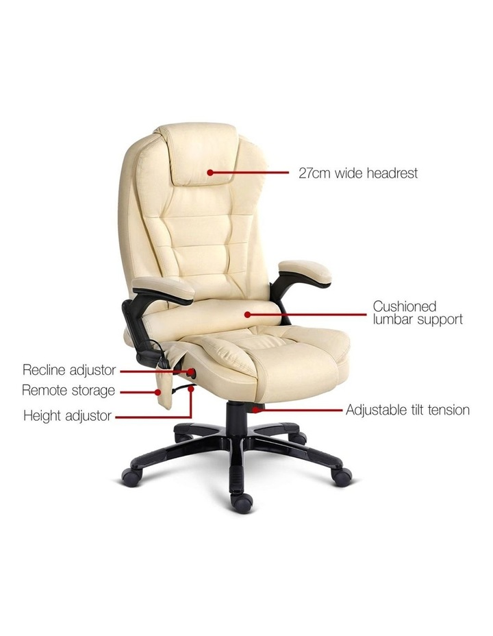 8 Point PU Leather Reclining Massage Chair image 3