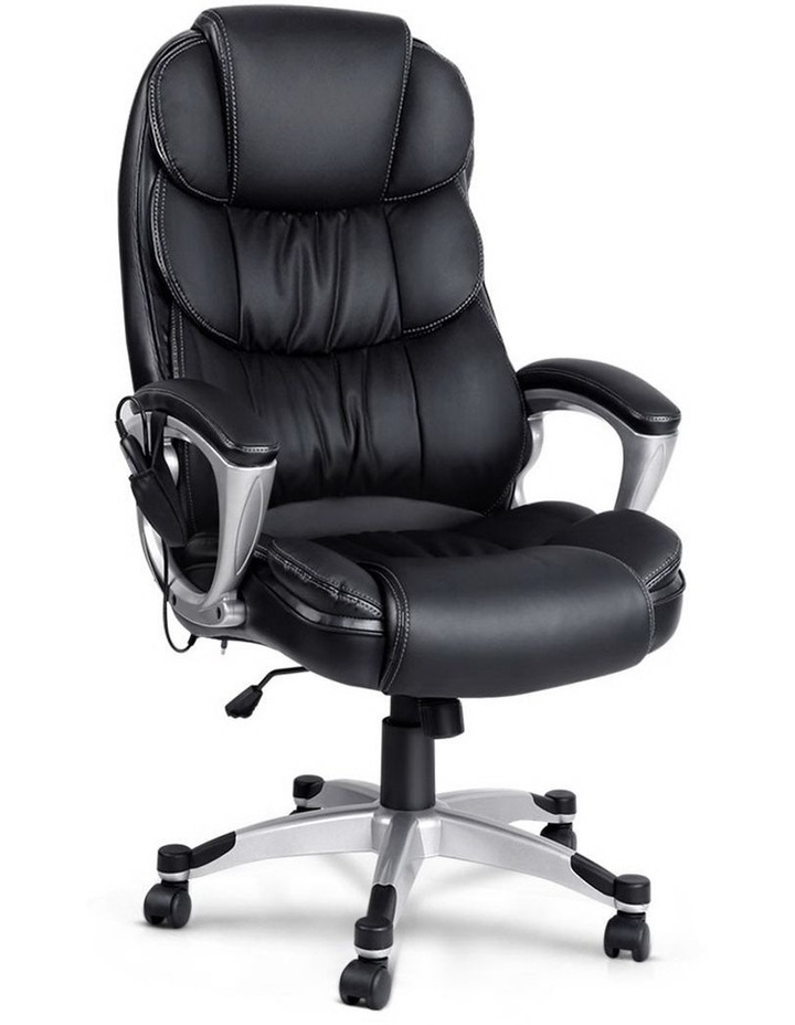 8 Point PU Leather Reclining Massage Chair image 1
