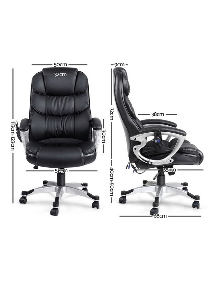 8 Point PU Leather Reclining Massage Chair image 2
