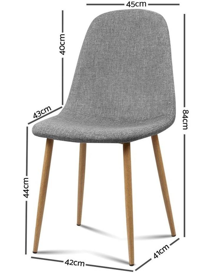 4x Adamas Fabric Dining Chairs image 2