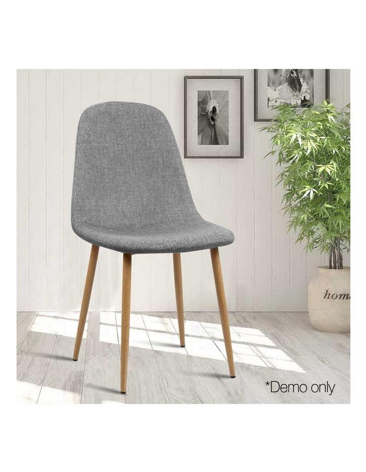 4x Adamas Fabric Dining Chairs image 3