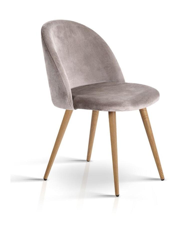 Set of Two Velvet Modern Dining Chair image 1