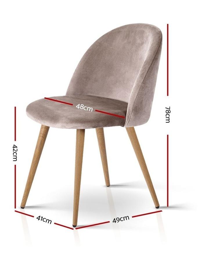 Set of Two Velvet Modern Dining Chair image 2