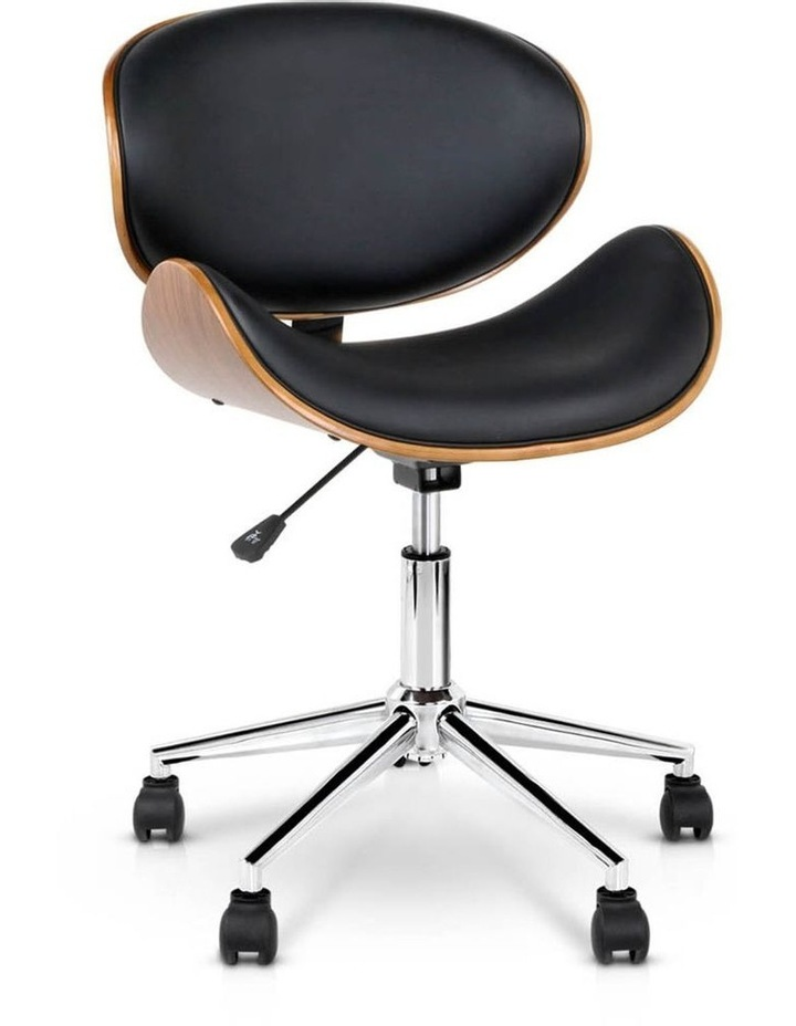 Wooden and PU Leather Office Desk Chair image 1