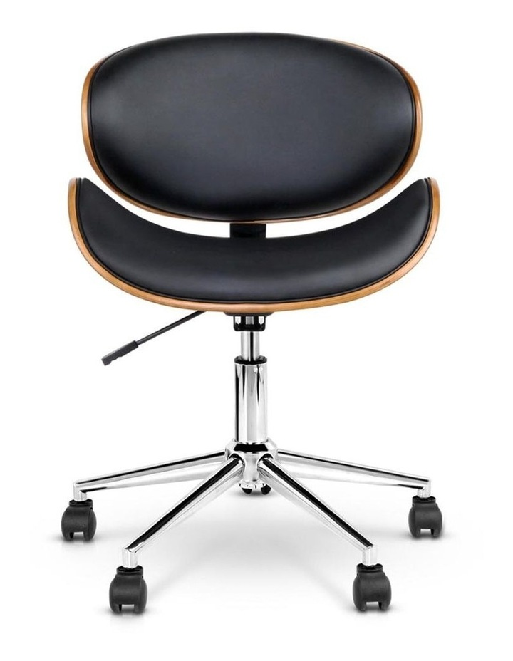 Wooden and PU Leather Office Desk Chair image 3