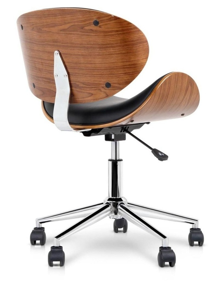 Wooden and PU Leather Office Desk Chair image 6