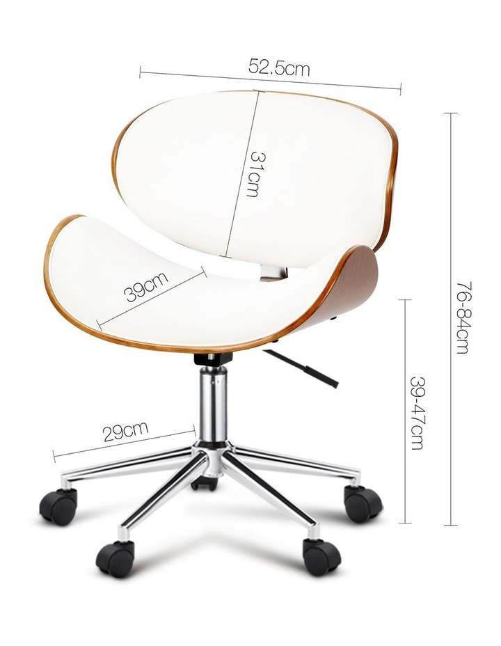Wooden and PU Leather Office Desk Chair image 2