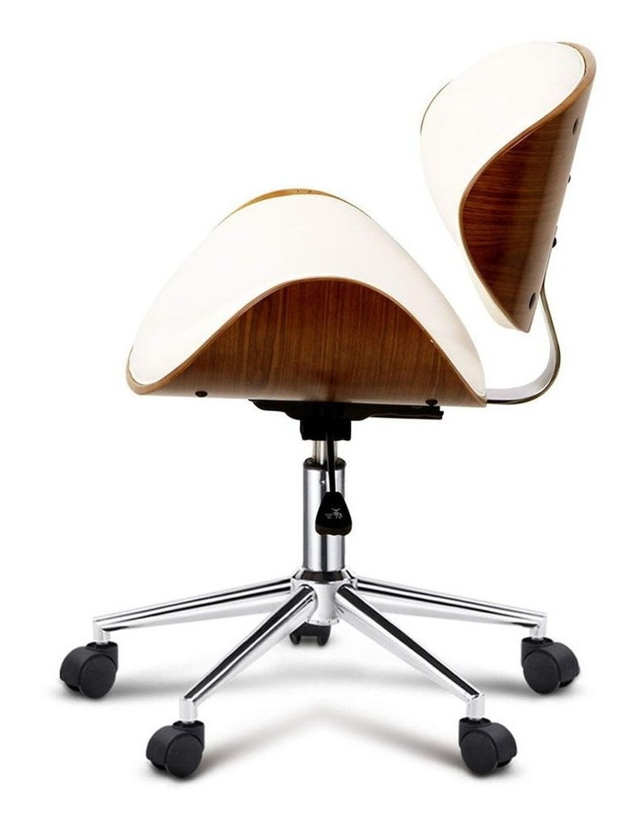 Wooden and PU Leather Office Desk Chair image 4
