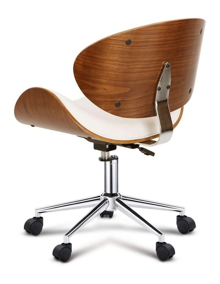 Wooden and PU Leather Office Desk Chair image 5