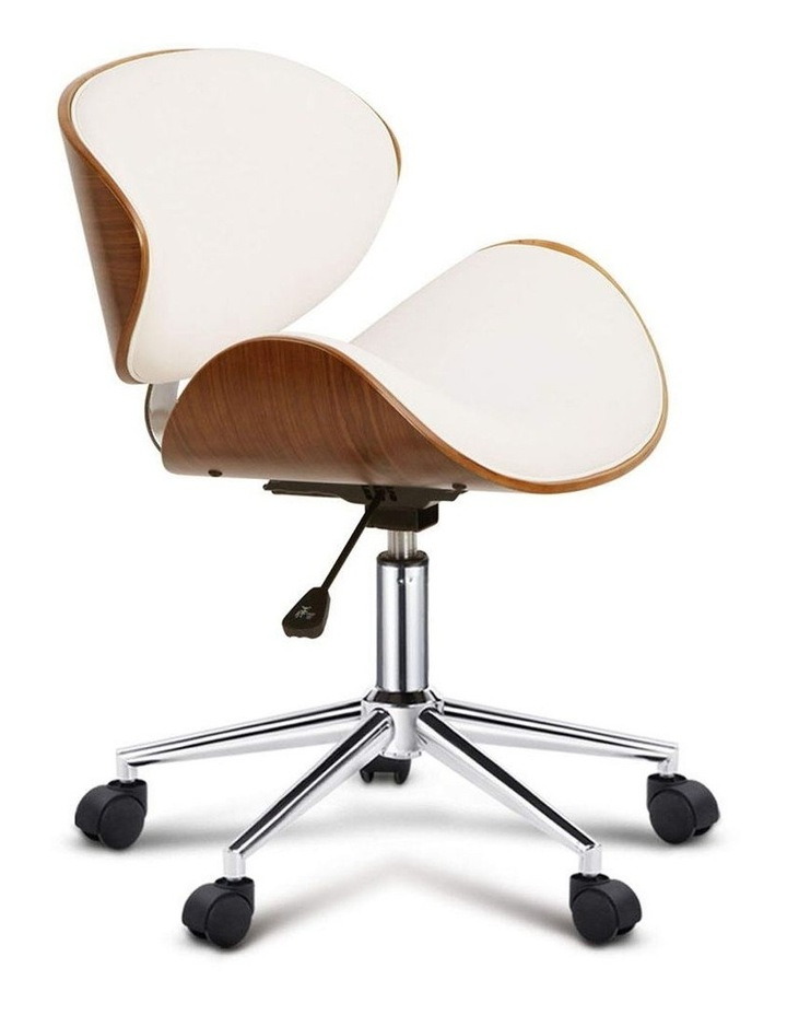 Wooden and PU Leather Office Desk Chair image 7