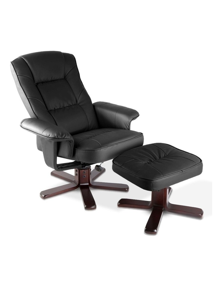 PU Leather Wood Armchair Recliner image 1