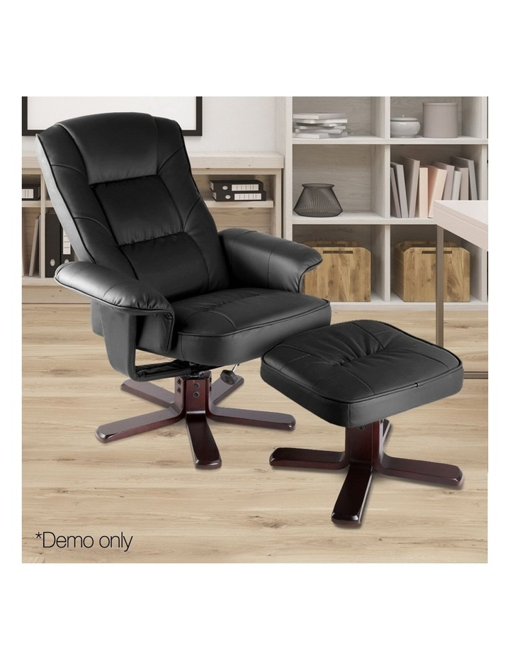 PU Leather Wood Armchair Recliner image 3