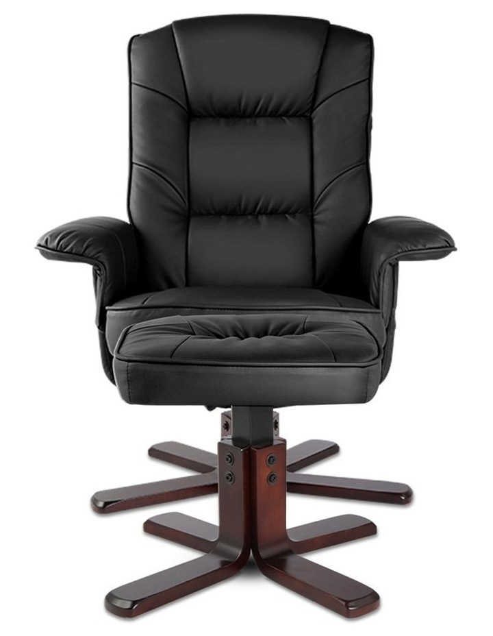 PU Leather Wood Armchair Recliner image 4