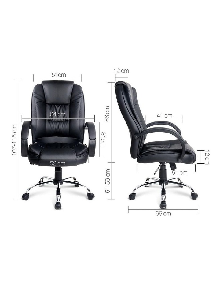 Executive PU Leather Office Desk Computer Chair image 2