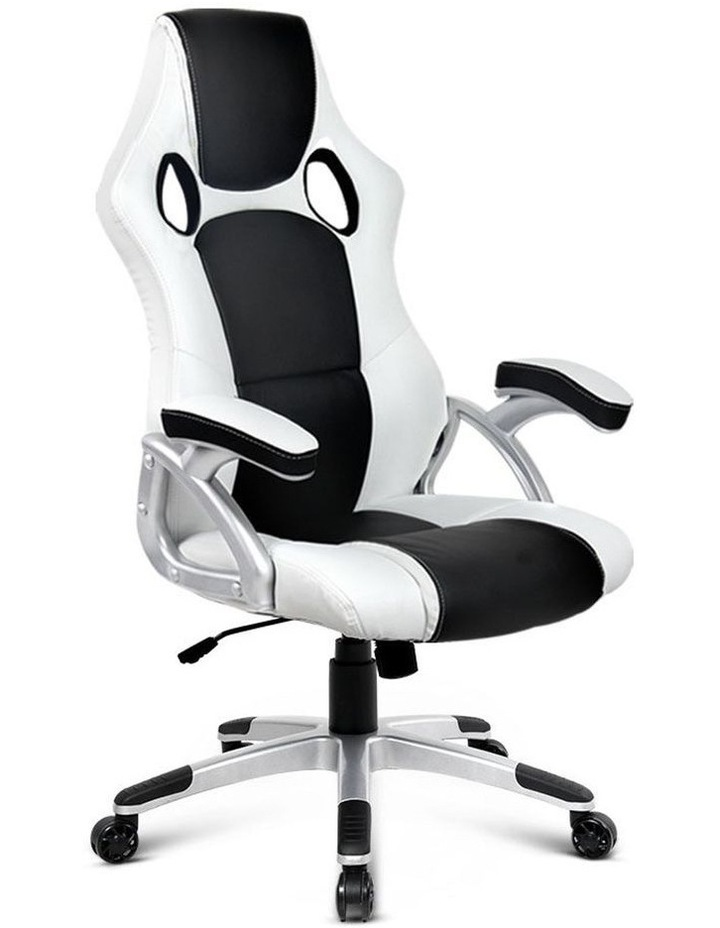 PU Leather Racing Style Office Desk Chair image 1