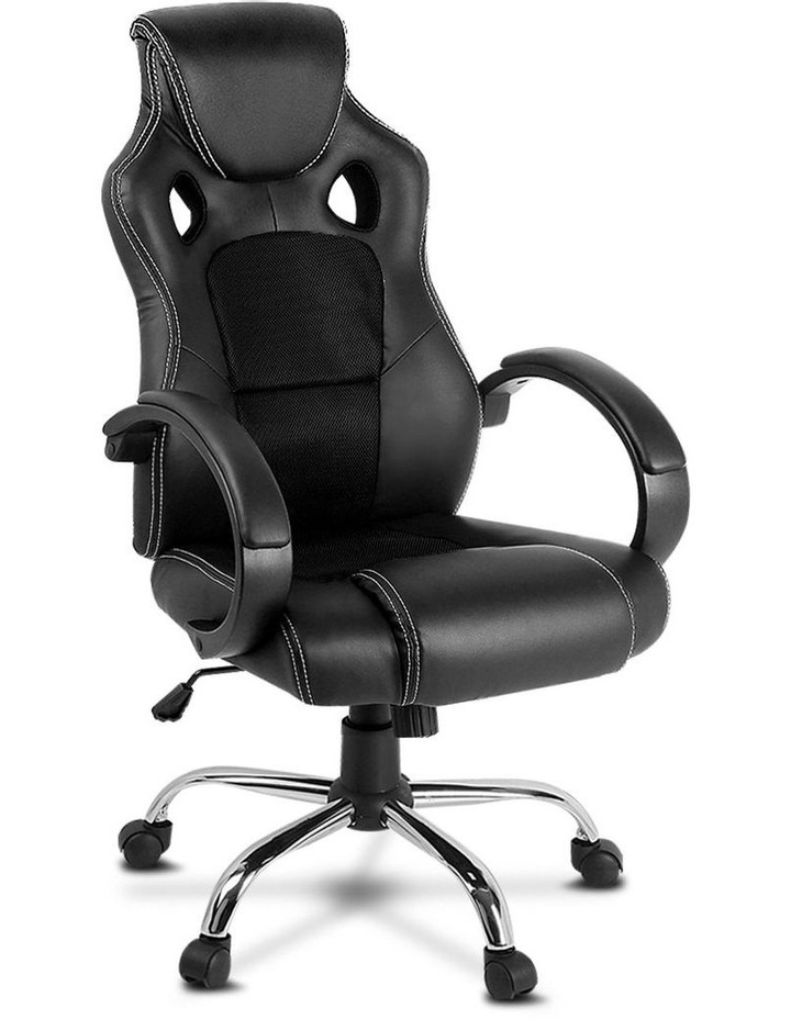 Racing Style PU Leather Office Desk Chair image 1