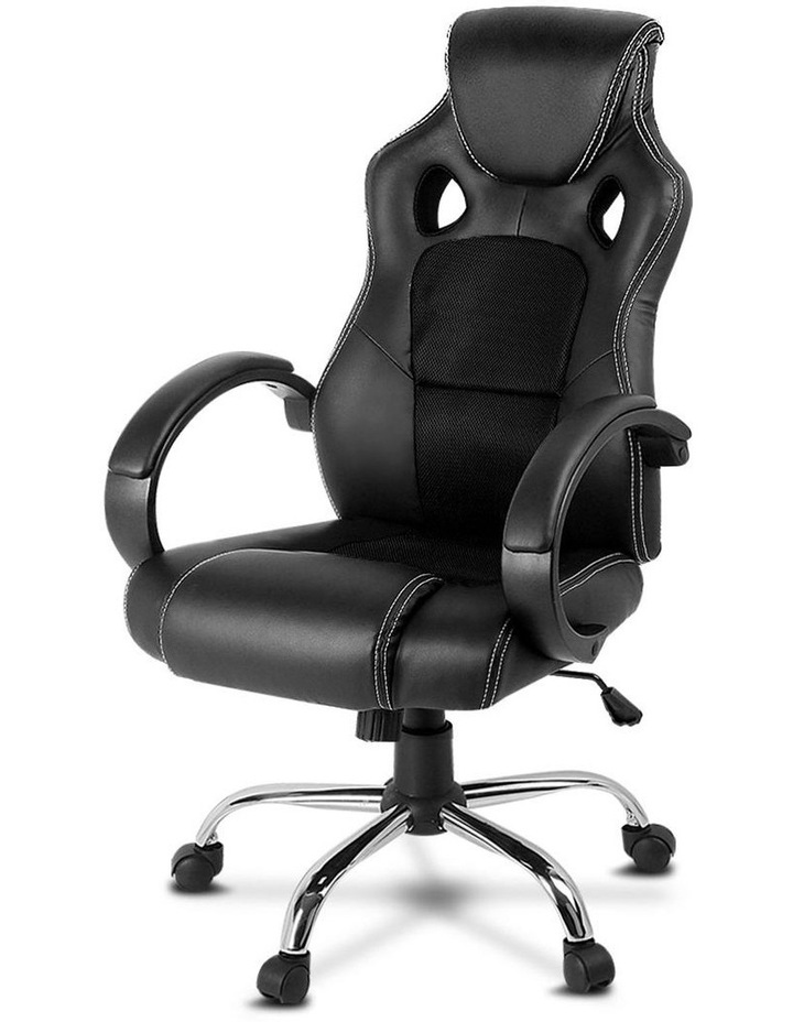 Racing Style PU Leather Office Desk Chair image 2