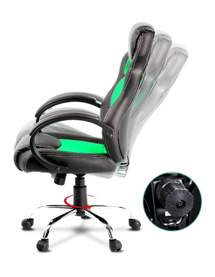 Racing Style PU Leather Office Desk Chair image 4