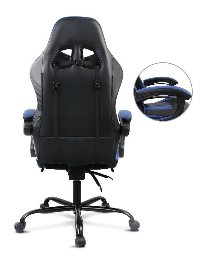 Artiss Gaming Office Chair Computer Chairs Seating Racing Racer Black Blue image 3