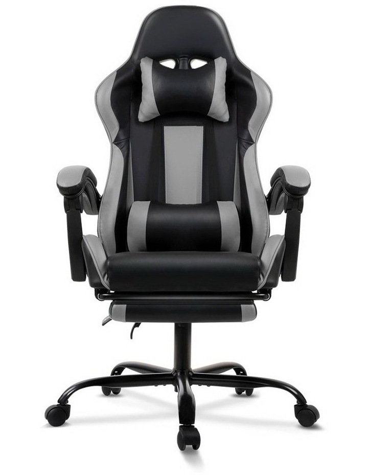 Artiss Gaming Office Chair Computer Chairs Leather Seating Racing Racer Black image 3