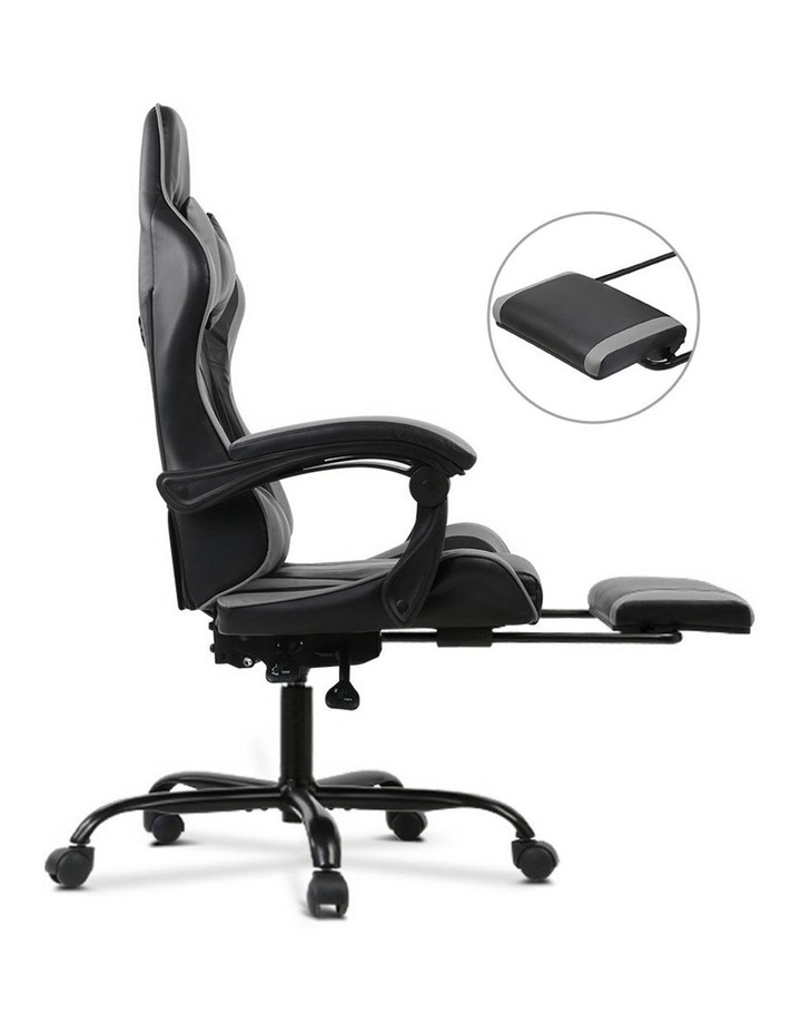 Artiss Gaming Office Chair Computer Chairs Leather Seating Racing Racer Black image 4