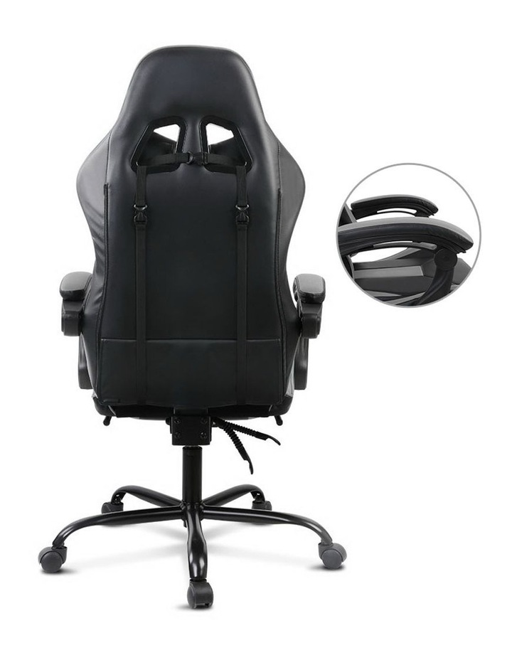 Artiss Gaming Office Chair Computer Chairs Leather Seating Racing Racer Black image 5