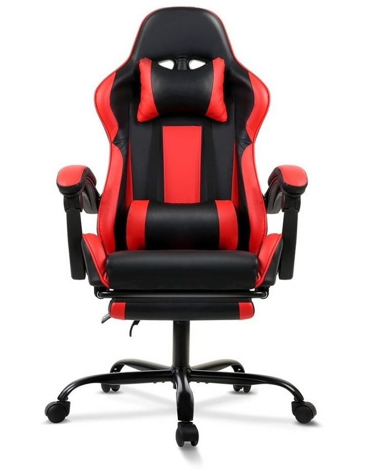 Artiss Gaming Office Chair Computer Chairs Seating Racing Racer Black Red image 1