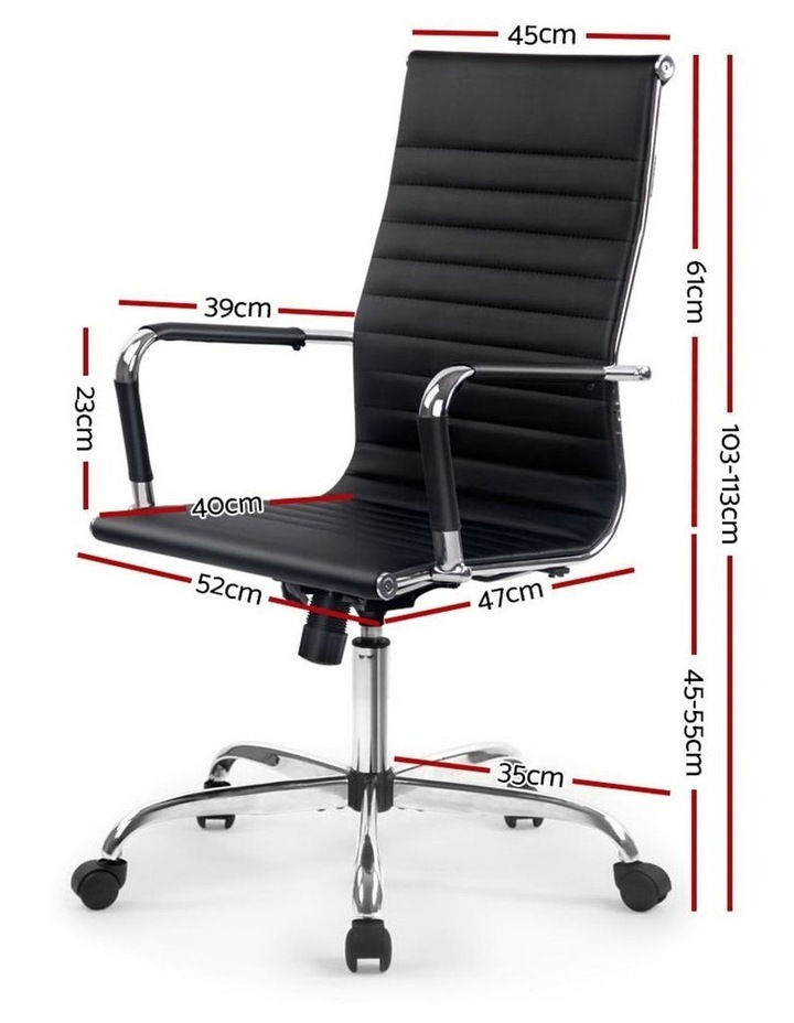 Eames Replica Premium PU Leather Office Chair image 2