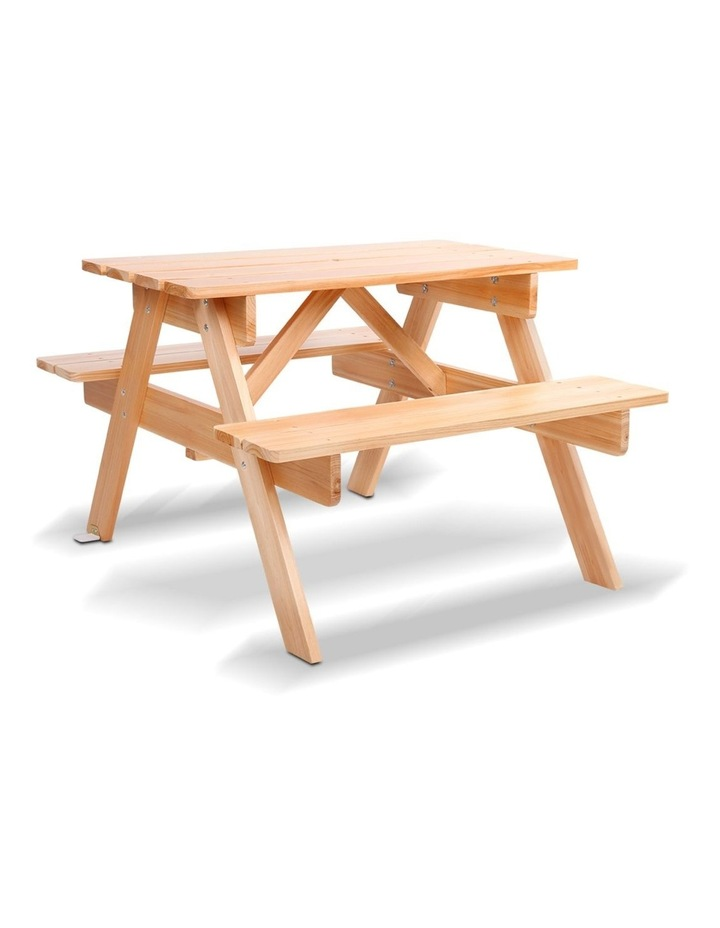 Keezi Kids Wooden Picnic Bench Set image 1