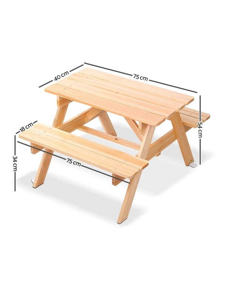 Keezi Kids Wooden Picnic Bench Set image 2