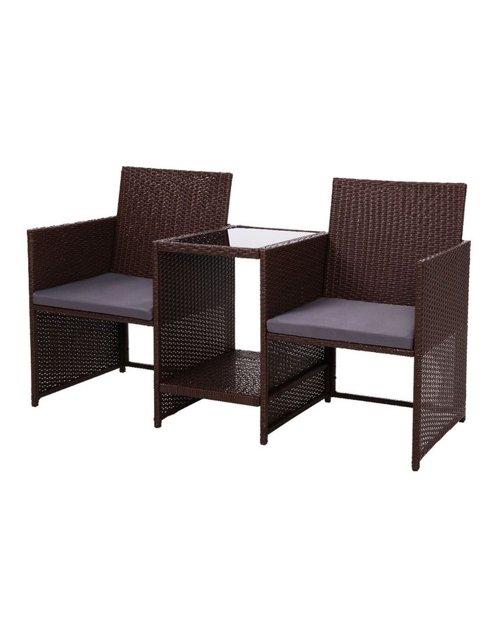 Outdoor Setting Wicker Loveseat image 1