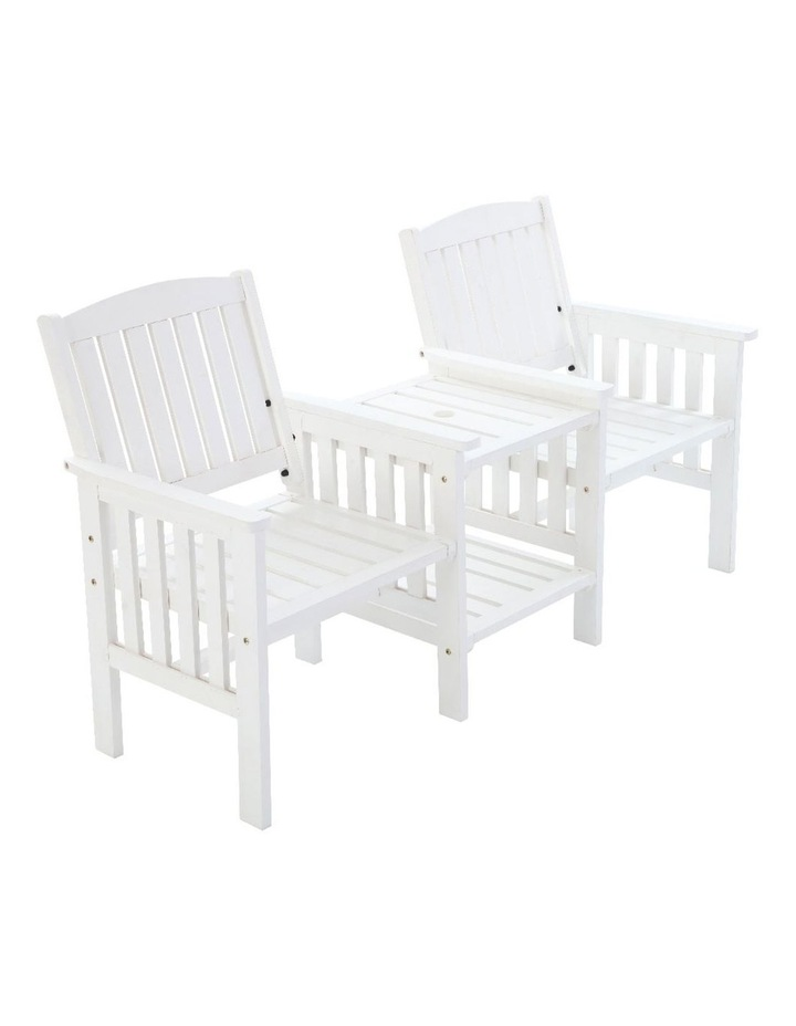Wooden Garden Bench Chair Table Loveseat image 1