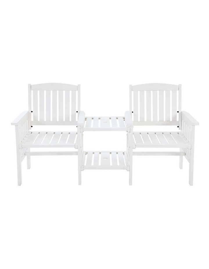 Wooden Garden Bench Chair Table Loveseat image 3