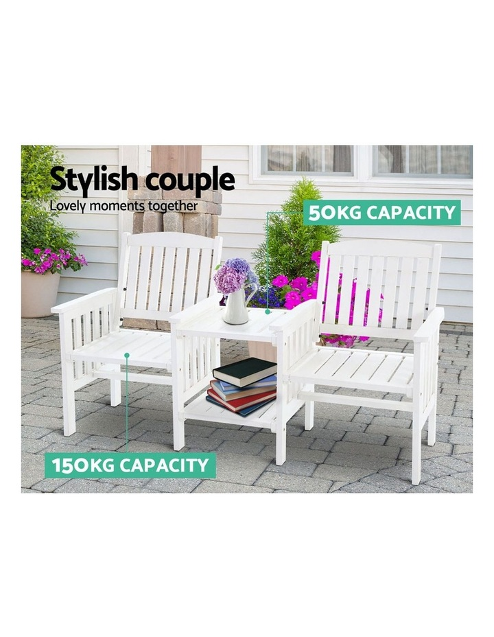 Wooden Garden Bench Chair Table Loveseat image 4