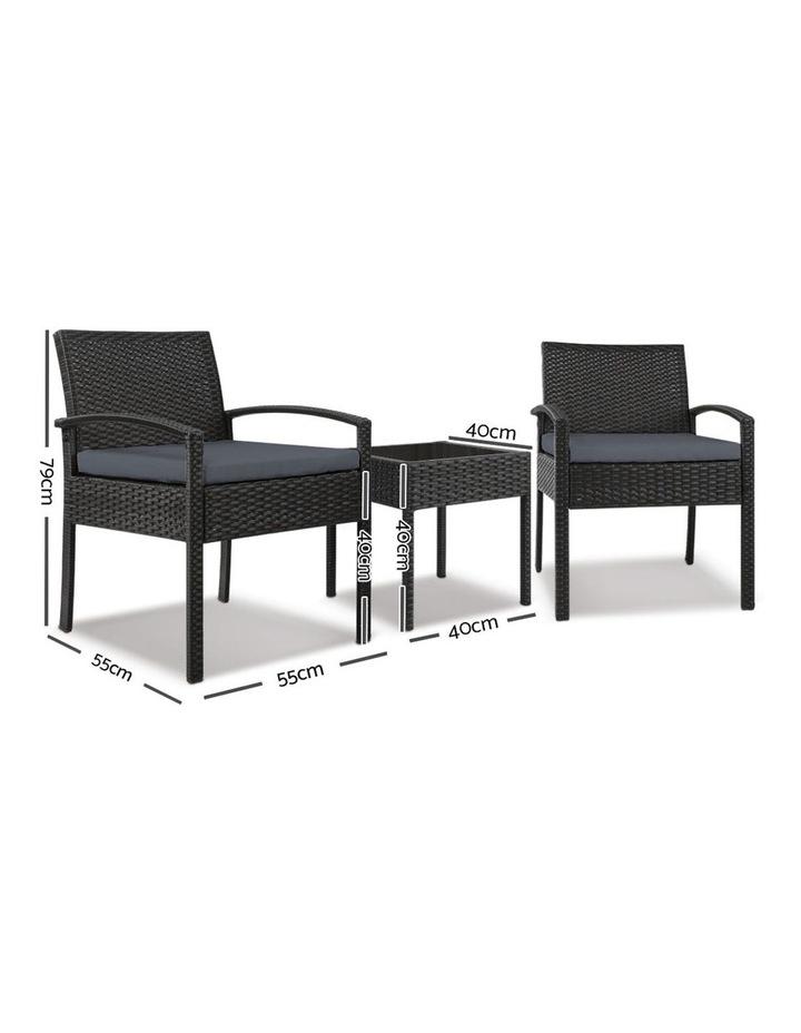 Gardeon 3-piece Outdoor Set - Black image 2