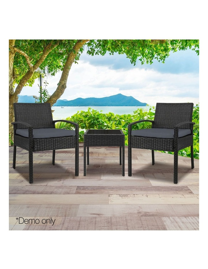 Gardeon 3-piece Outdoor Set - Black image 3