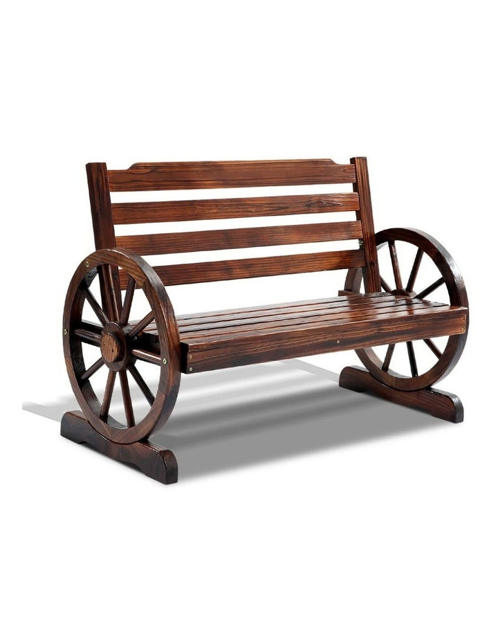 Wooden Wagon Wheel Bench image 1