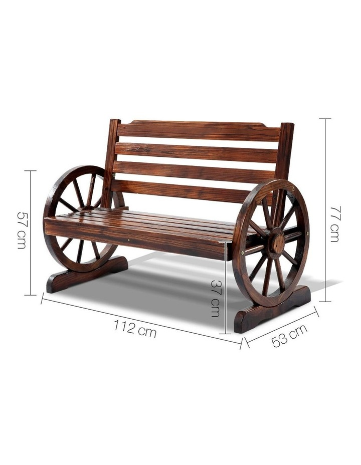 Wooden Wagon Wheel Bench image 2