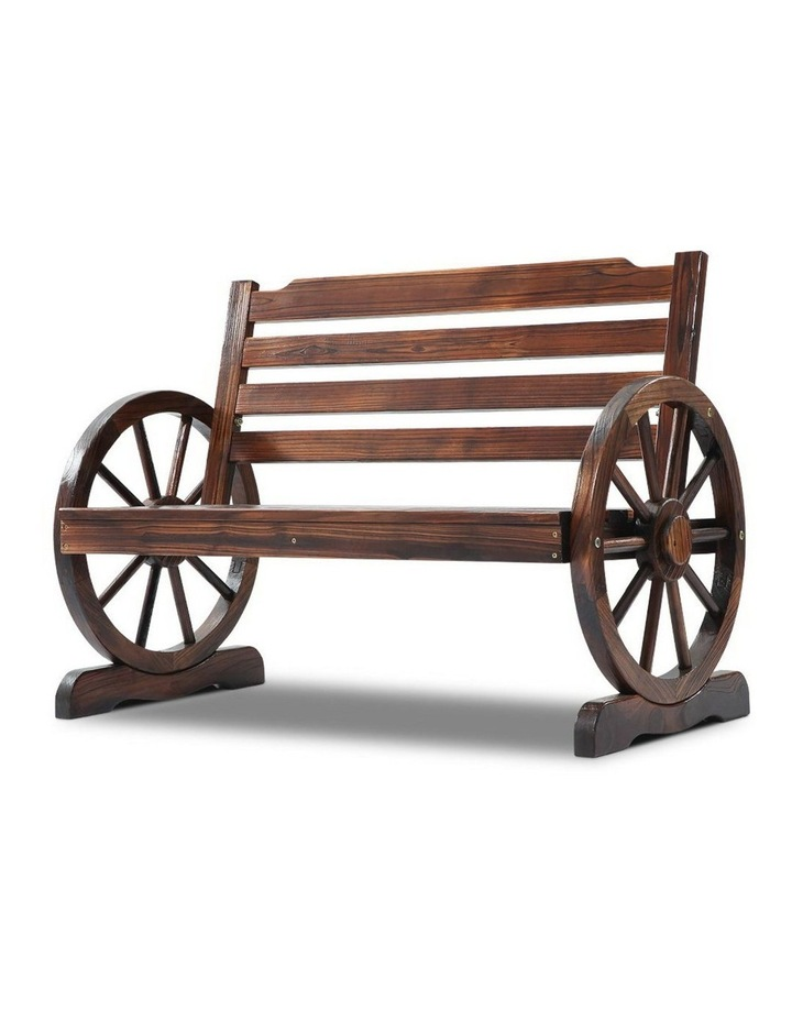 Wooden Wagon Wheel Bench image 3