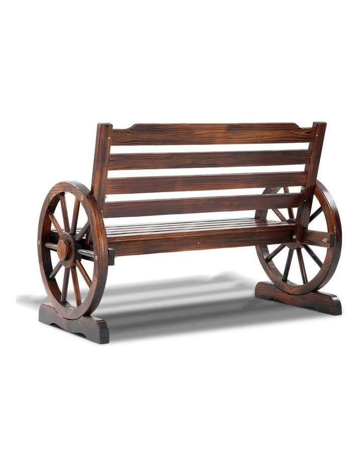 Wooden Wagon Wheel Bench image 4