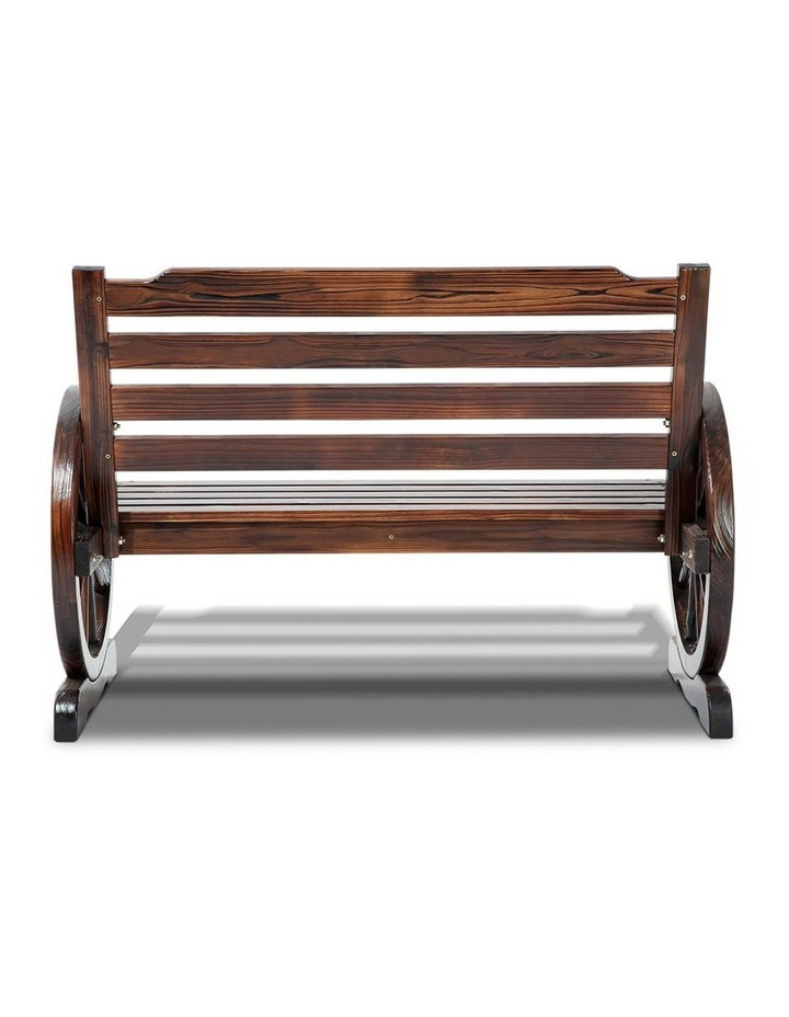 Wooden Wagon Wheel Bench image 5