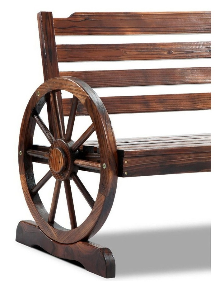 Wooden Wagon Wheel Bench image 7