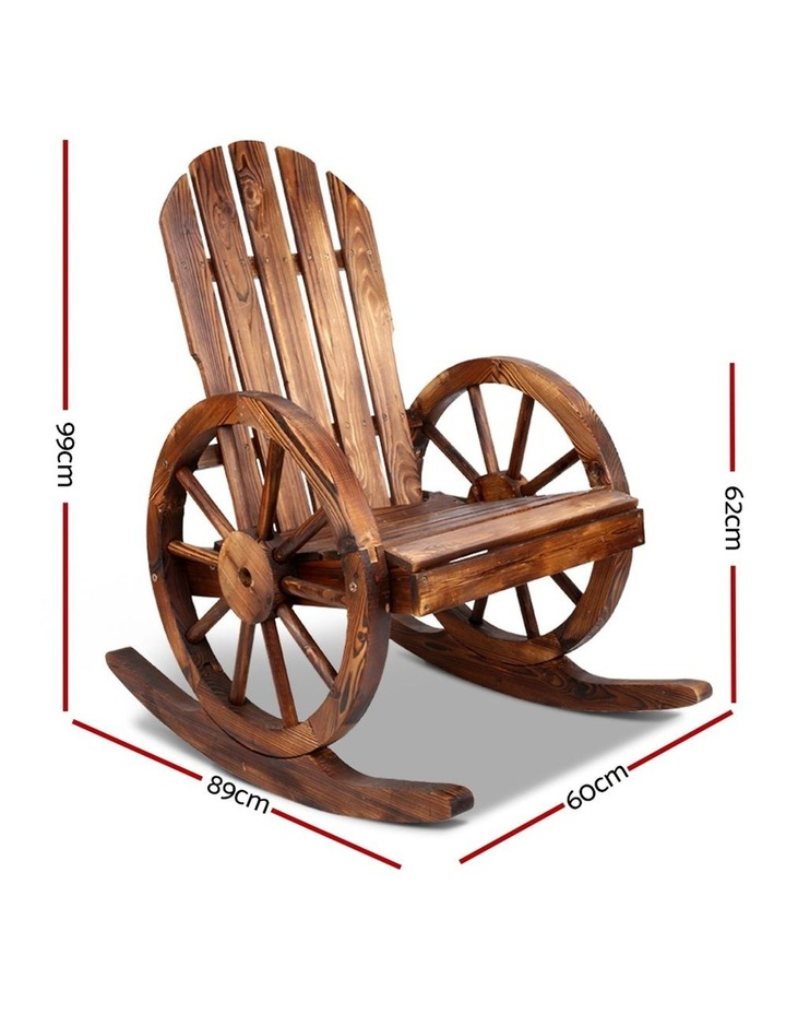 Wagon Wheels Rocking Chair image 2