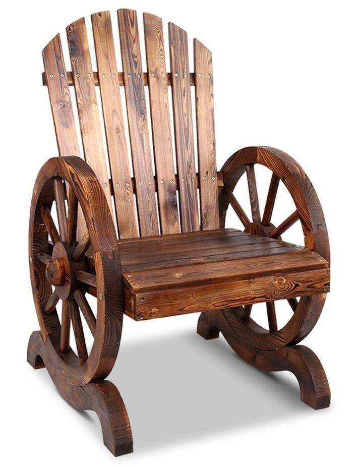 Wagon Wheels Single Rocking Chair image 1
