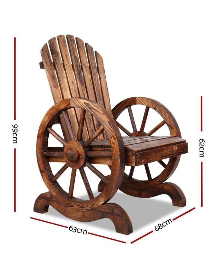 Wagon Wheels Single Rocking Chair image 2