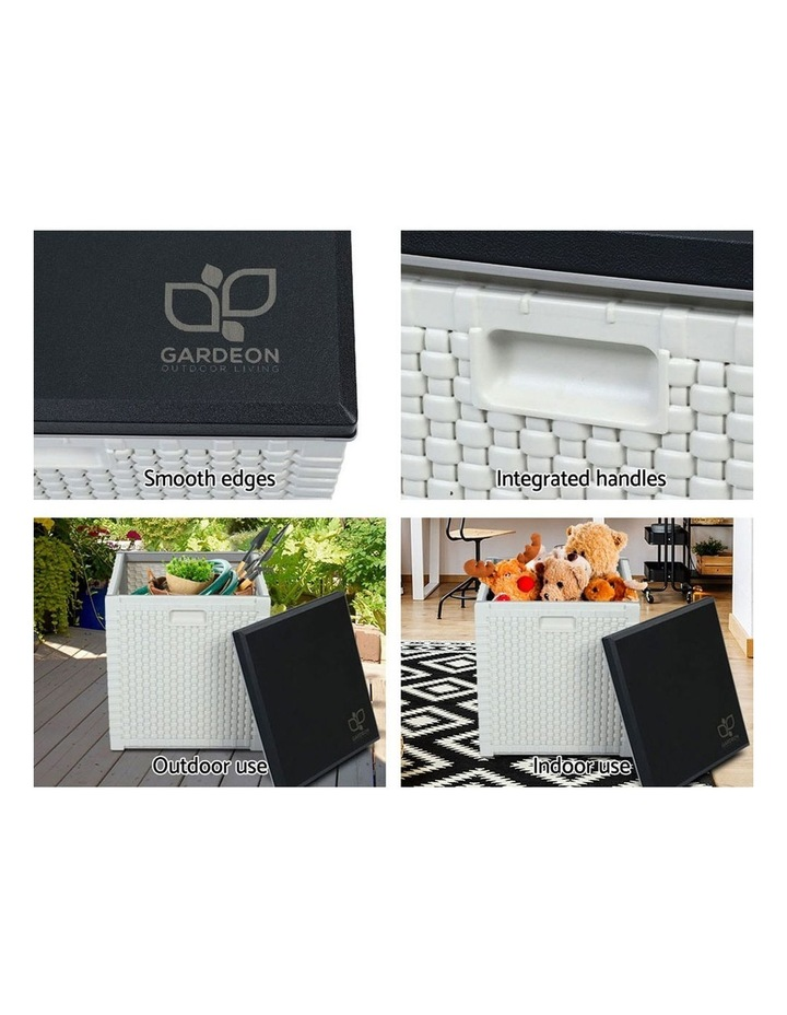 Outdoor Storage Box Seat Bench Deck Organiser 106L image 6
