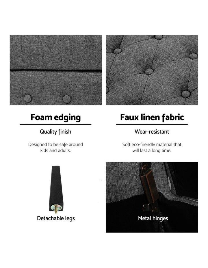 Linen Fabric Storage Ottoman image 5