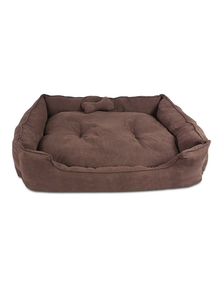 Extra Large Faux Suede Washable Pet Bed image 1